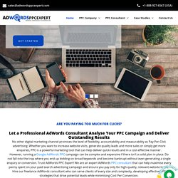 Adwords Consultant, Adwords Consulting Services, Google Adwords Consultant