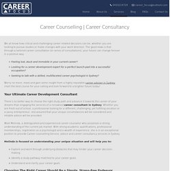 Career consultant Sydney and Career counselling Service