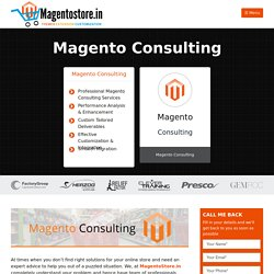 Magento Developer and Consultant in India