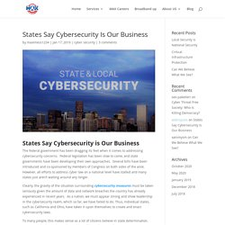 States Say Cybersecurity Is Our Business