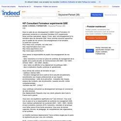 Emploi H/F Consultant Formateur expérimenté QSE - AQSE CONSEIL FORMATION - Seyssinet-Pariset (38)