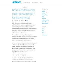 Nous recrutons un(e) super consultant(e) / facilitateur(trice) - Stormz