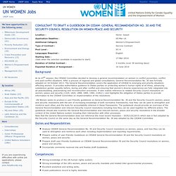 UN WOMEN Jobs - 44215- Consultant to Draft a Guidebook on CEDAW- General