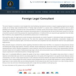 Foreign Legal Consultant, California Immigration Lawyer, San Francisco USA Immigration Lawyer