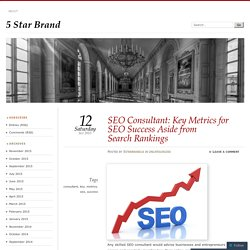 SEO Consultant: Key Metrics for SEO Success Aside from Search Rankings