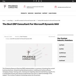 The Best ERP Consultant For Microsoft Dynamic NAV