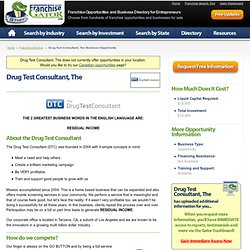 Drug Test Consultant, The Business Opportunity
