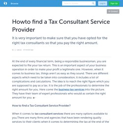 How to find a Tax Consultant Service Provider
