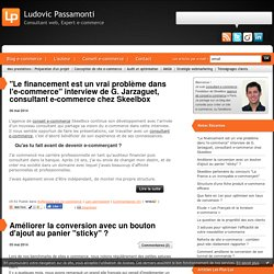 BLOG CONSEILS E-COMMERCE par un consultant e-commerce & webmarketing