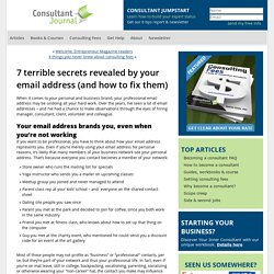 7 terrible secrets revealed by your email address (and how to fix them)