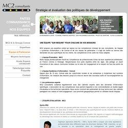 MC2 Consultants - Cabinet Evaluation MC2 consultants Accompagnement et Evaluation Politiques Publiques