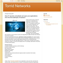 Torrid Networks: How IT security consultants can save your applications from the illicit attempts of hackers?