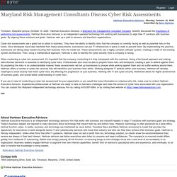 Maryland Risk Management Consultants Discuss Cyber Risk Assessments