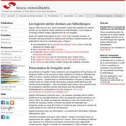 Tosca Consultants : Les logiciels métier destinés aux bibliothèques