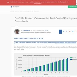 Consultants vs. True Cost of Employees Calculator