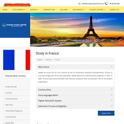Study in France Consultants in Chennai