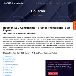 Best Website Designing, SEO And Development Services In Houston
