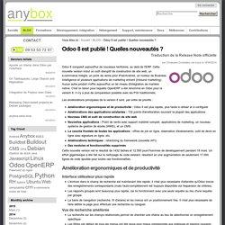 Odoo 8 est publié ! Quelles nouveautés ? — Anybox : consultants/développeurs Odoo