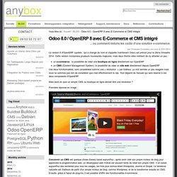 Odoo 8.0 / OpenERP 8 avec E-Commerce et CMS intégré — Anybox : consultants/développeurs Odoo