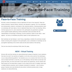 The Consultants-E : EdTech Training - Face-to-Face