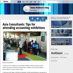 Axia Consultants: Tips for attending accounting exhibitions