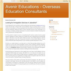 Avenir Educations - Overseas Education Consultants: Looking for Immigration Services in Jalandhar?