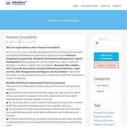 Finance Consultants – IndusGuru Resources