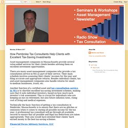 Stocks and Taxes: How Pembroke Tax Consultants Help Clients with Excellent Tax-Saving Investments