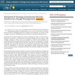 Maryland IT Strategy Consultants Educate Readers On Change Management