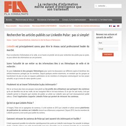 Fla consultants - Rechercher les articles publiés sur LinkedIn Pulse : pas si simple!