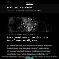 Les consultants au service de la transformation digitale