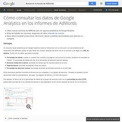 Consulter les données GoogleAnalytics dans les rapports AdWords - Centre d'aide AdWords