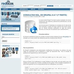 Consultas SQL, de Drupal 6 a 7 (1ª parte)