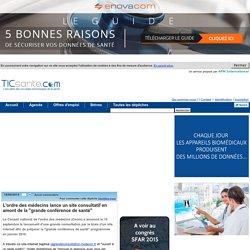 """L'ordre des médecins lance un site consultatif en amont de la """"grande conférence de santé"""""""