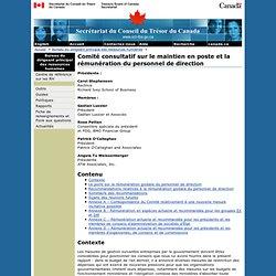 Comité consultatif sur le maintien en poste et la rémunération du personnel de direction