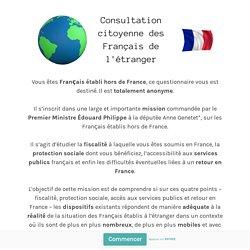 Consultation citoyenne des Français de l'étranger