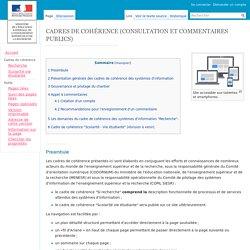 CADRES DE COHÉRENCE (CONSULTATION ET COMMENTAIRES PUBLICS) — cadre_de_coherence