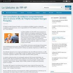 Une consultation de médecine comportementale dans le service d'ORL de l'hôpital européen Georges-Pompidou