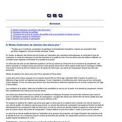 Unasylva - No. 73-74 - Consultation FAO/IUFRO sur la génétique forestière - Annexes