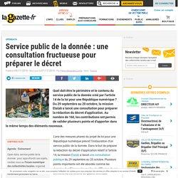 Service public de la donnée : une consultation fructueuse pour préparer le décret