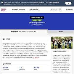 Résultats de la consultation 'Comment la société peut-elle garantir une vraie place aux personnes handicapées ? - Make.org'