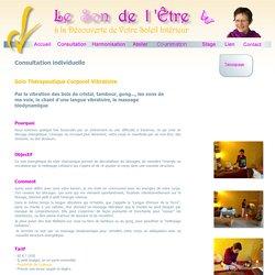 consultation massage sonore - massage biodynamique - harmonisation par les sons - Nantes