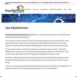 Tax Preparation Services Pembroke