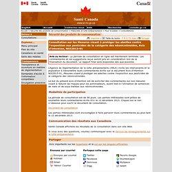 Consultation sur les Mesures visant à protéger les abeilles contre l'exposition aux pesticides de la catégorie des néonicotinoïdes, Avis d'intention, NOI2013-01