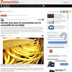 Dernière ligne droite pour la consultation sur la neutralité du net - Numerama