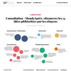 ∙ Consultation #MondeAprès : découvrez les 14 idées plébiscitées par les citoyens