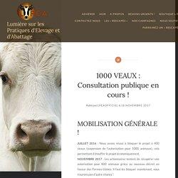 1000 VEAUX : Consultation publique en cours ! – Lumière sur les Pratiques d'Elevage et d'Abattage