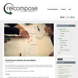 Conseils pour réunions de consultation