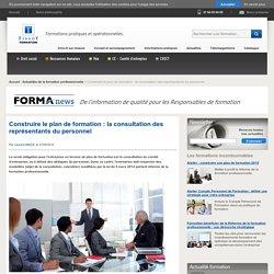 Construire le plan de formation : la consultation des représentants du personnel