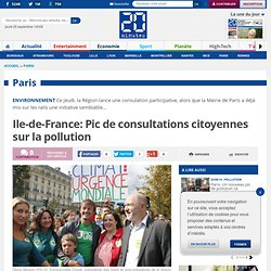Ile-de-France: Pic de consultations citoyennes sur la pollution